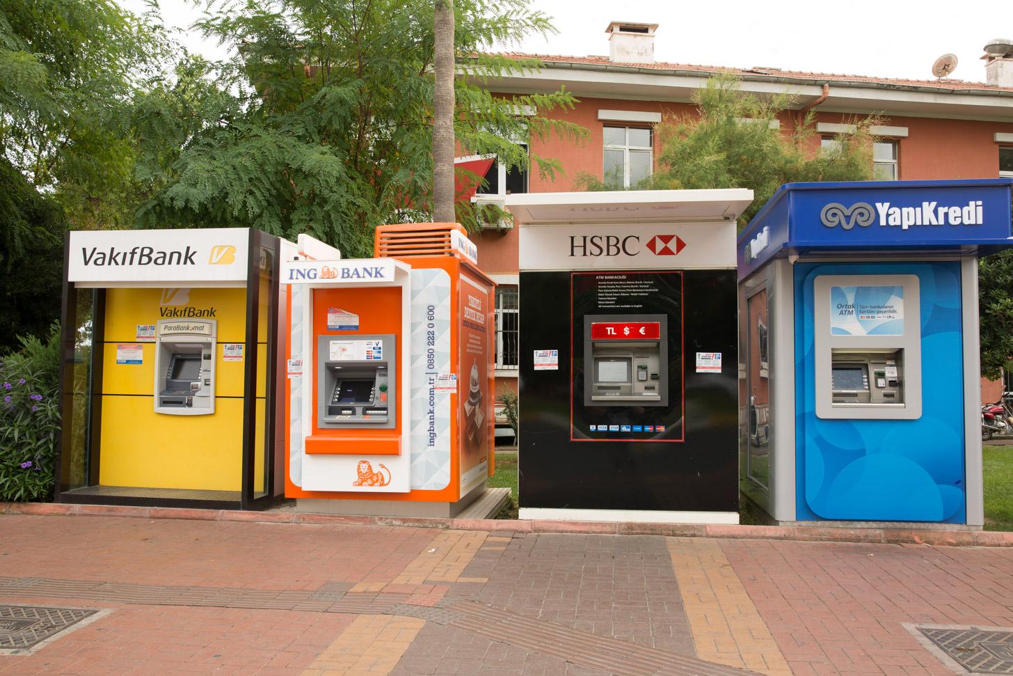Geldautomaten in Alanya